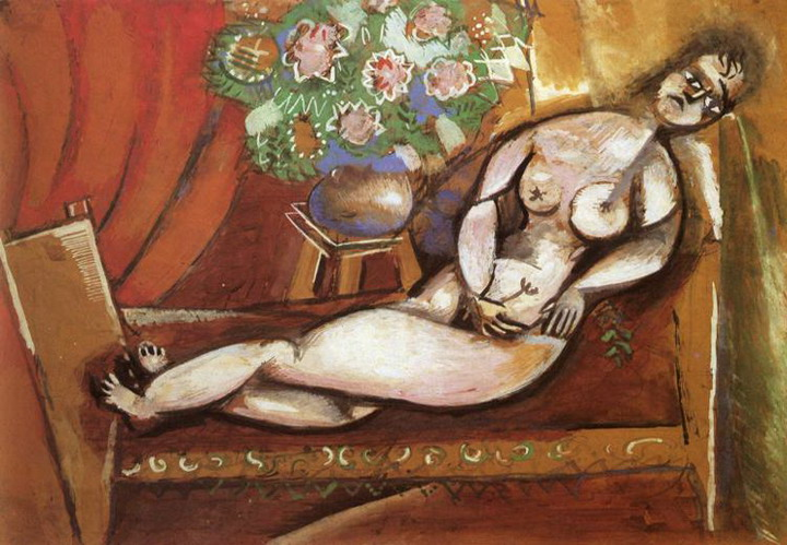 Marc Chagall. Reclining Nude. 1911