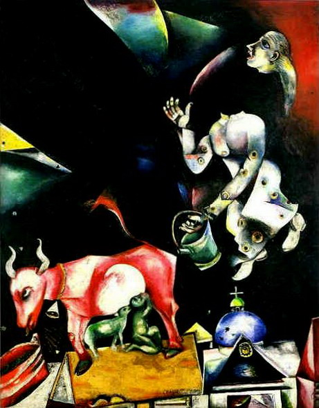 Marc Chagall. Russia. Asses and Others.. 1911