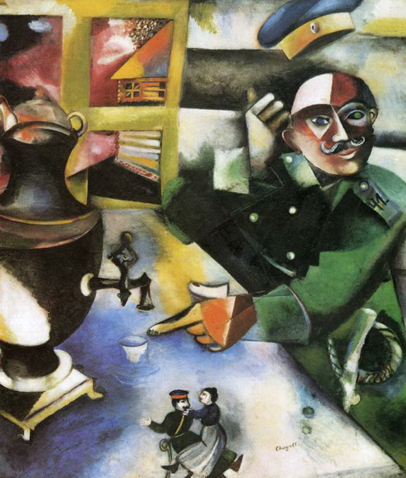 Marc Chagall. The Soldier Drinks. 1913