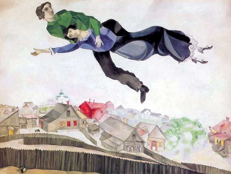 Marc Chagall. Above the city. 1914