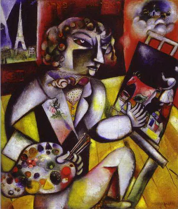 Marc Chagall. Self-Portrait with Seven Fingers. 1913