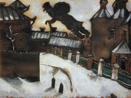 Marc Chagall, Old Vitebsk. A study for the painting