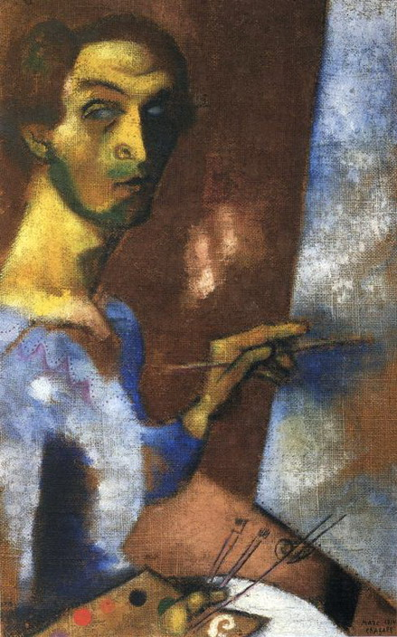 Marc Chagall. Self-Portrait with Easel. 1914