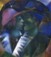Marc Chagall, Green Lovers, 1914