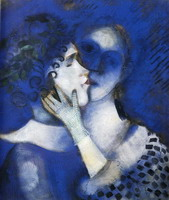 Marc Chagall, Blue Lovers, 1914