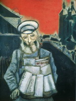 Marc Chagall, Newspaper Seller, 1914