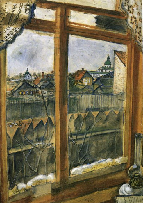Marc Chagall. View from a Window. Vitebsk. 1908